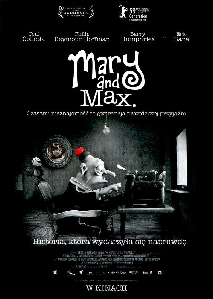Ulotka filmu 'Mary i Max (przód)'