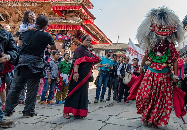 Lakhe in the Nepal Sambat procession