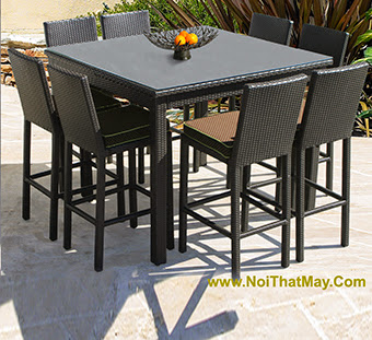 Outdoor Wicker Bar Set Minh Thy 819