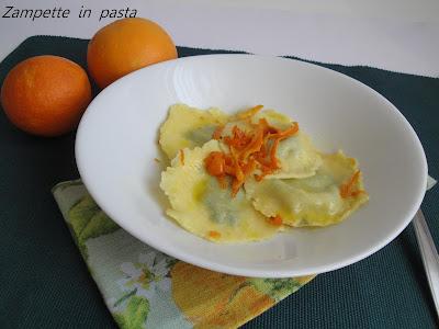 Tortelli al profumo di arancia - Primo piatto con le arance
