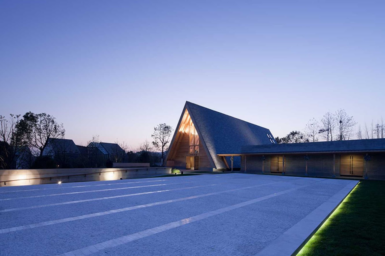 Hangzhou, Cechiang, Cina: Hangzhou Meilizhou Church by Platdesign