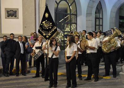 Feria Pozoblanco 2011: La Banda Municipal de Música de Pozoblanco sale en dirección a la ermita de Ntra.Sra.de las Mercedes
