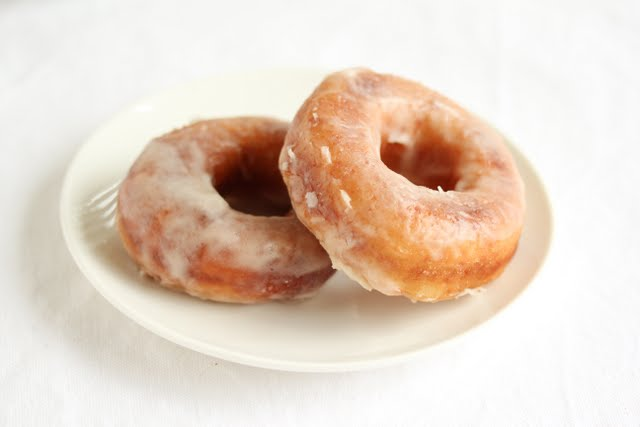 close-up photo of two donuts