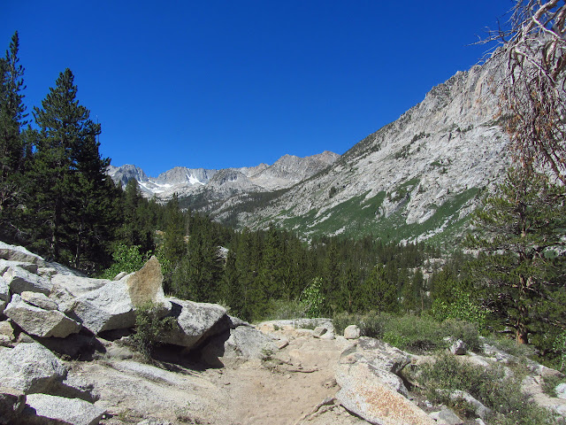 bowl of peaks in the upper valley