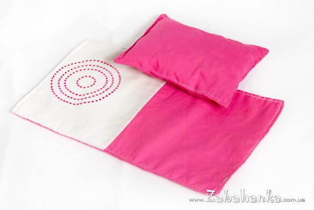 Подушка та ковдра для ляльки