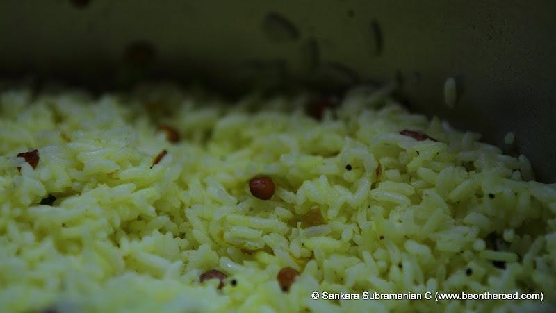 Lemon Rice - used in the famous lemon rice dosa