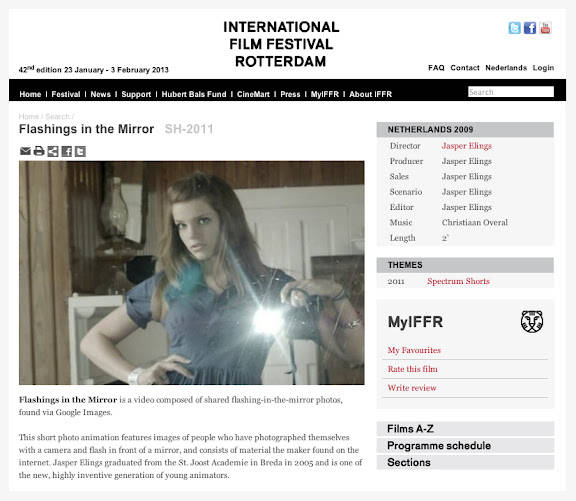 screenshot website IFFR 2011