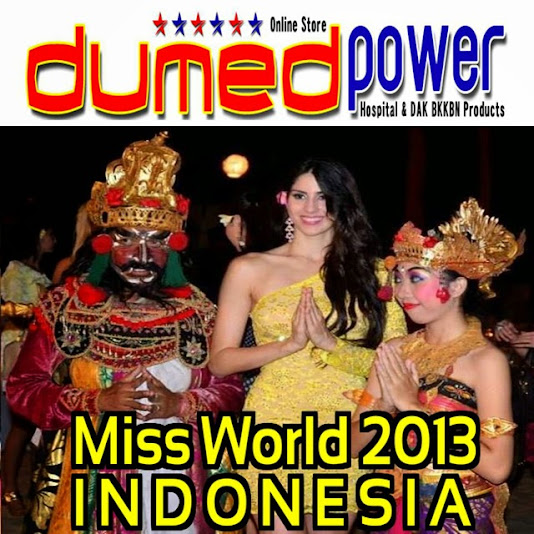 Miss-World-2013-Nusa-Dua-Bali-Indonesia-With-A-Bali-Dancer