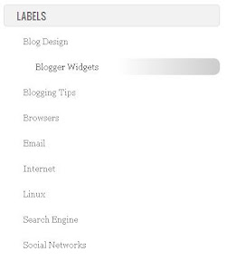 Gradient label widget blogger css3