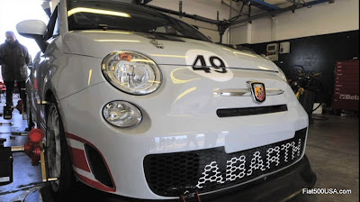 Fiat 500 Abarth Assetto Corse pitstop