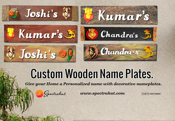 Custom Wooden Name Plates. Give Your Home A Personalized Name With  Decorative.