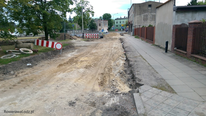 Prace na ul. Leszczowej zbiegły się w czasie z budową DDR