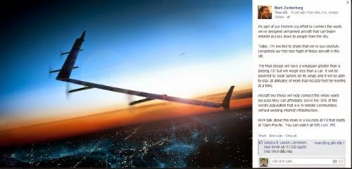 Facebook thu nghiem thanh cong may bay phat internet  anh 1