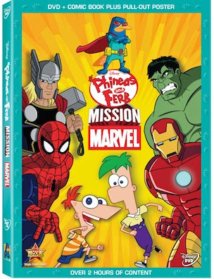 Phineas and Ferb Mission Marvel DVD #Review #Disney #Marvel