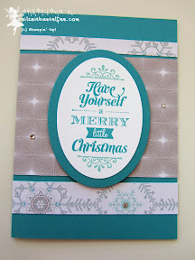 stampin up, case a christmas card, eiszauber, weihnachten, winter frost, merry little christmas