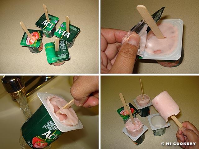 Frozen Yogurt Probiotic Popsicles
