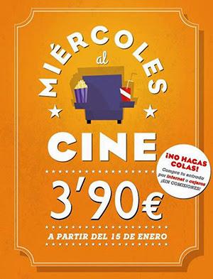 Los miércoles, al cine por 3,90 euros, con Cinesa