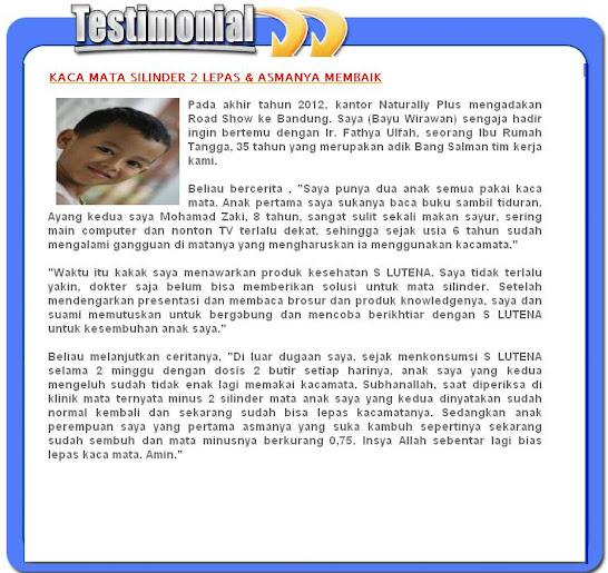 SLUTENA Obat Herbal Penyakit Asma Pada Anak