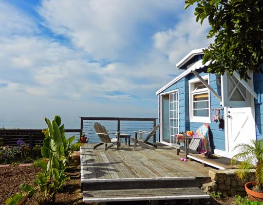 Crystal Cove cabin.   Walkabout Malibu to Mexico: Hiking Inn to Inn on the Southern California Coast