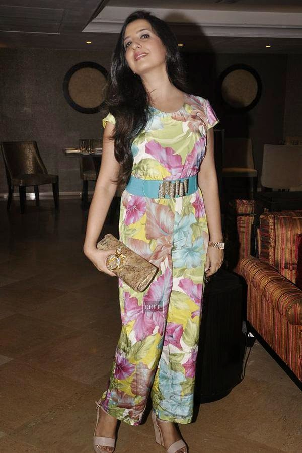 Amy Billimoria during the launch of music album The Victorian Secrets, in Mumbai, on July 21, 2014. (Pic: Viral Bhayani)