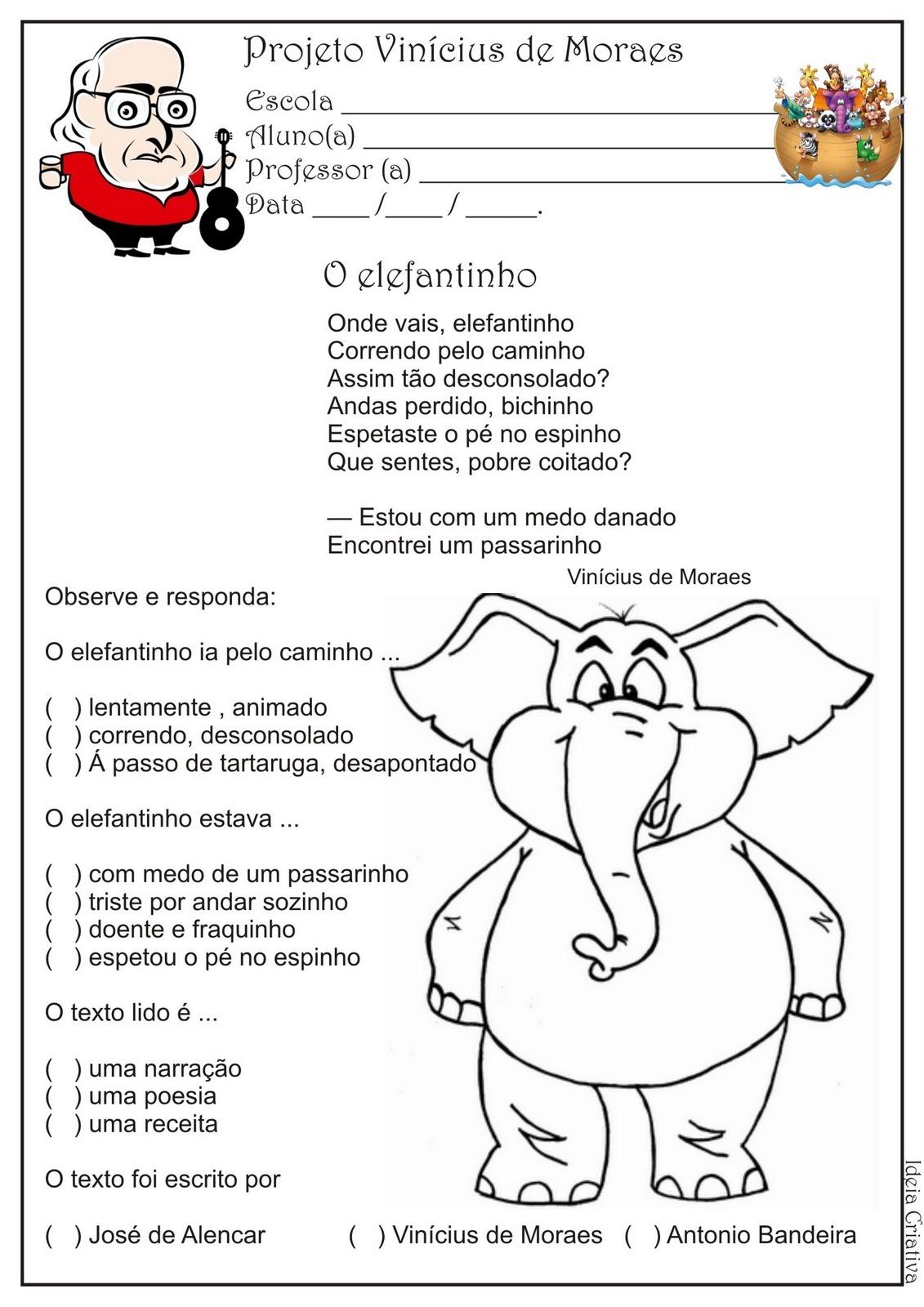 Atividade Projeto Vin  Cius De Moraes   2   Ano