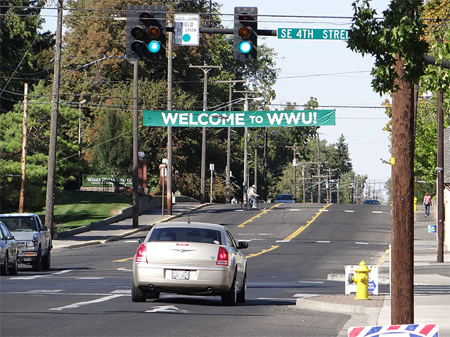 Walla Walla University sign