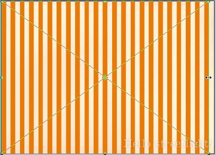 Adjust the width of the stripes layer.