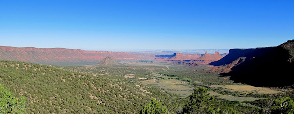 Castle Valley viewed from the La Sal Mountain Loop