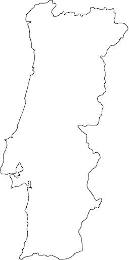mapa mudo de portugal Blog de Geografia: Mapa de Portugal para colorir mapa mudo de portugal