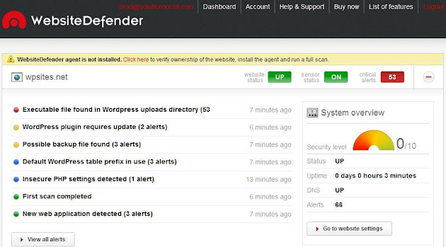 WebsiteDefender WordPress Security Plugin
