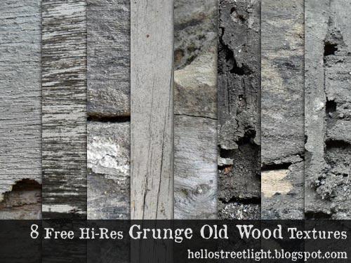 8 Free Hi-Res Grunge Old Wood Textures