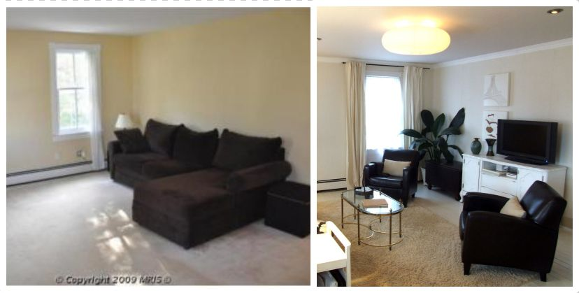 Living Room Before and After