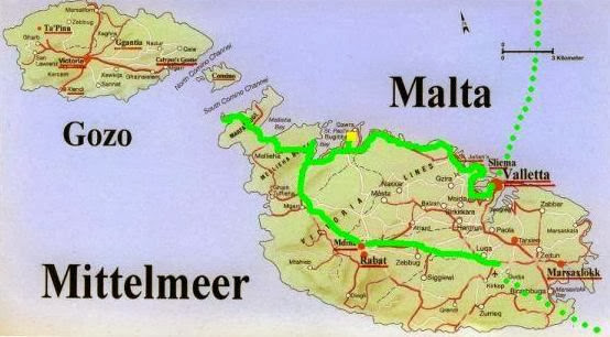 Chris on the Bike: Radl-Route auf Malta