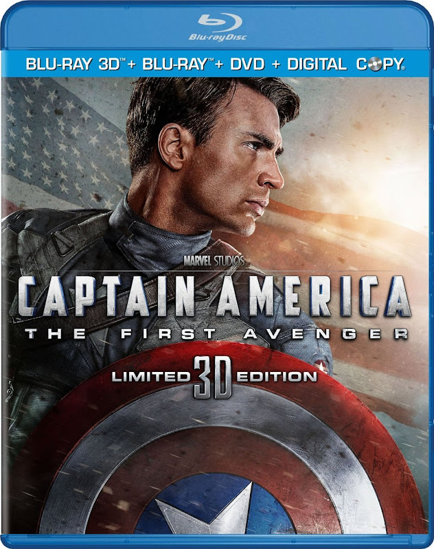 Captain America: The First Avenger, Blu-ray 3D, cover, cap, image, box, art