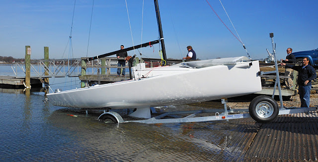 J/70 first sail- ramp launchable trailerable sailboat