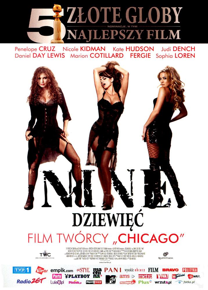 Ulotka filmu 'Nine - Dziewięć (przód - wersja B)'