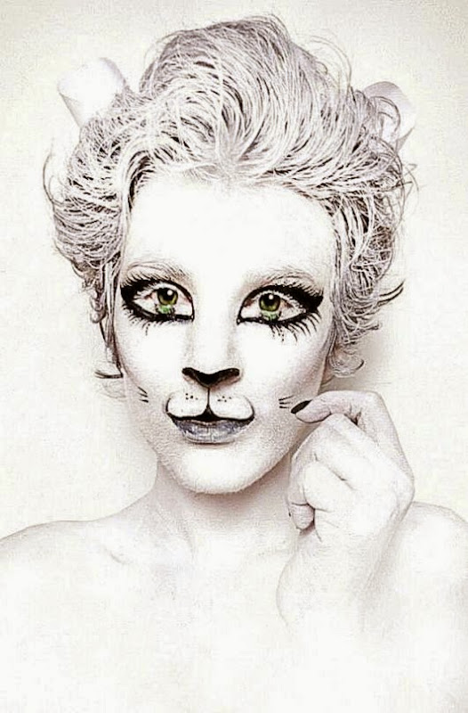 White Kitty Cat Body Paint   Natasha Kudashkina  I Love Body Art
