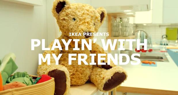 "Ikea's First Music Video-Style Ad ""Playin' With My Friends"""