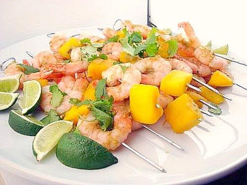 Shrimp & Mango Skewers