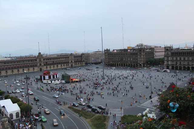 Zocalo plaza as seen from above