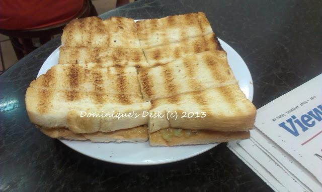 Kaya Toast From Killney Coffee Shop