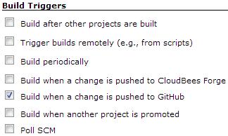 GitHub build triggers