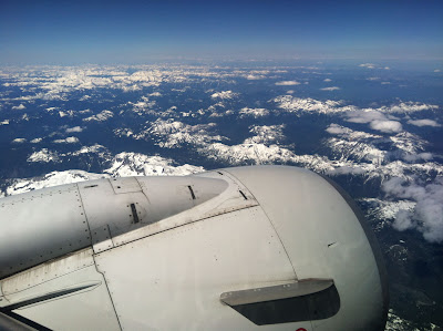View of mtns from plane