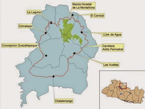Mapa de La Montañona