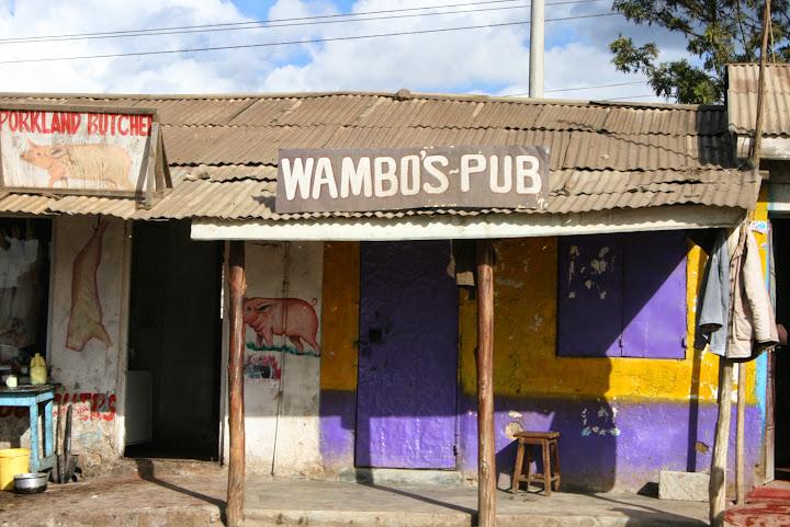 Wambo's Pub. Between Nairobi and Mount Kenya