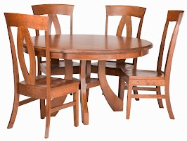 Rio Round Dining Table and Chairs in Cascadia Cherry