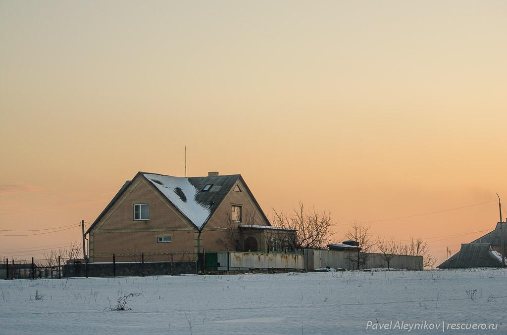 Дом на закате