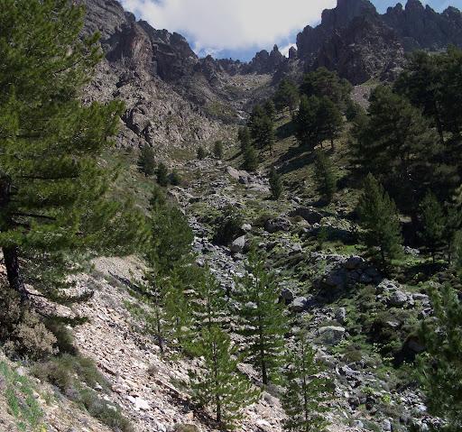 Vers Scarsa a Deda, passage dans la crête de Spolettu