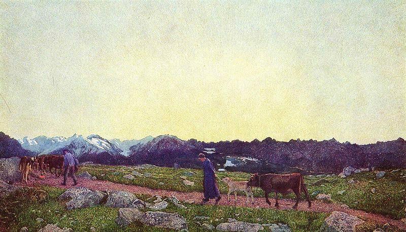 Giovanni Segantini - Alpen-Triptychon. La natura