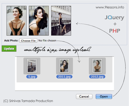 Multiple Ajax Image Upload without Refreshing Page using Jquery and PHP.